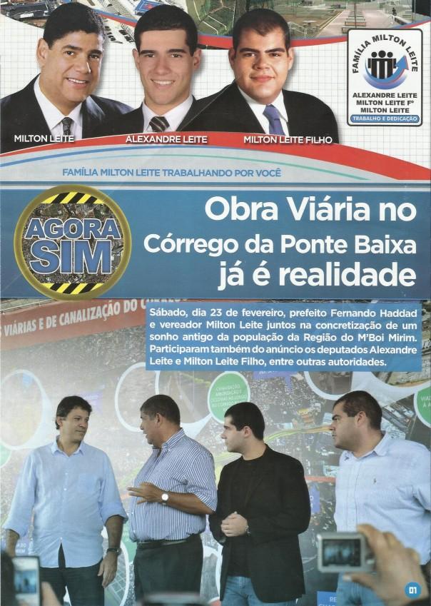 OBRA VIARIA NO CORREGO DA PONTE BAIXAl