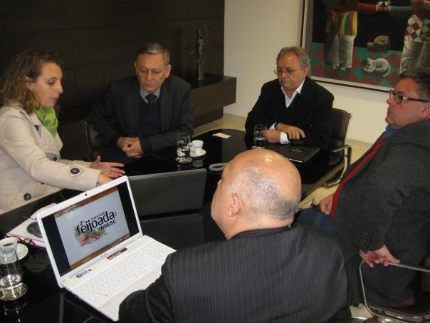Equipe do Indesc com Bigardi e Sartori