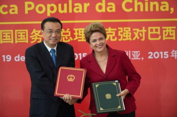A presidente Dilma Rousseff e o primeiro-ministro chinês, Li Keqiang. Foto: divulgação/internet