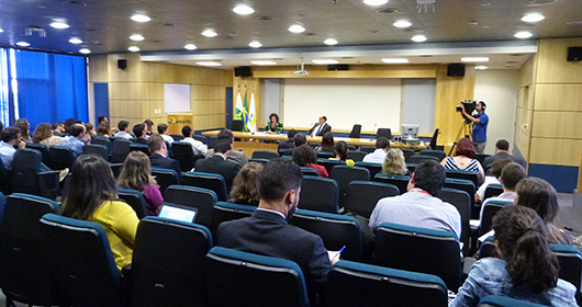 Coletiva à imprensa, 18/04/2016, realizada pela Anatel em Brasília.