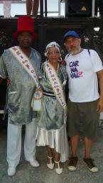 Corte do Carnaval de Rua de São Paulo da 3ª Idade – Rei e Rainha da Folia e o Produtor J. Ivo Brasil