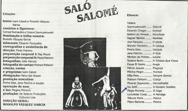 SALO SALOMÉ - OS SÁTIROS - IVO ZATTI