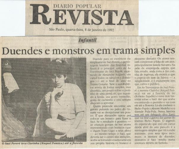 AS AVENTURAS DO SACI PERERÊ - ESPANTINHO PRODUÇÕES - IVO ZATTI - J. IVO BRASIL