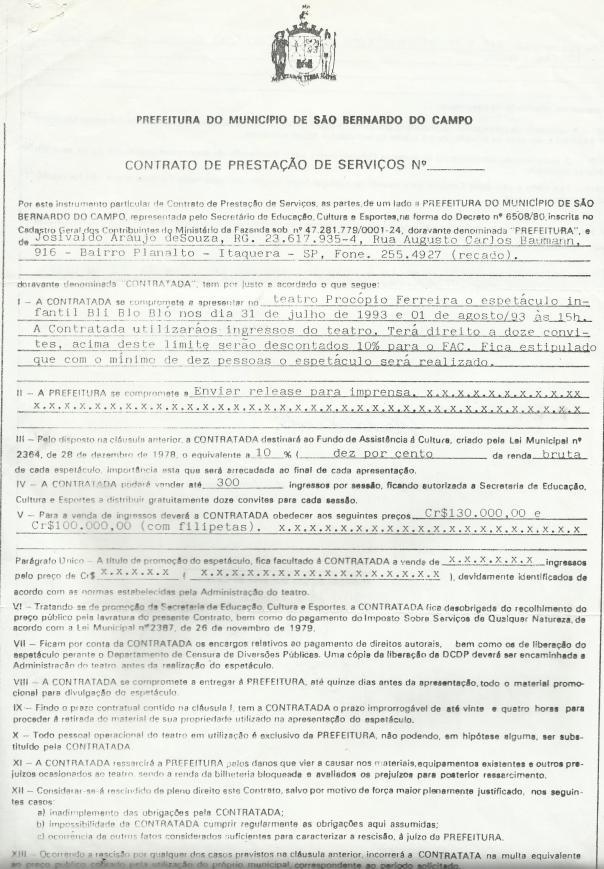 BLI BLO BLÓ - SBC - IVO ZATTI -  J. IVO BRASIL