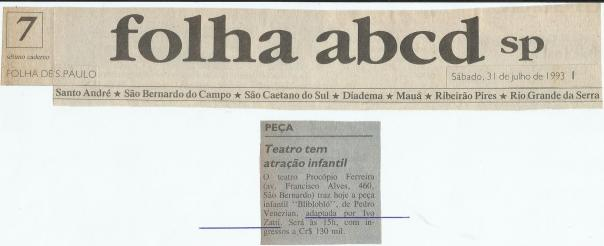 BLI BLO BLÓ - SAÕ BERNARDO DO CAMPO - IVO ZATTI - J. IVO BRASIL