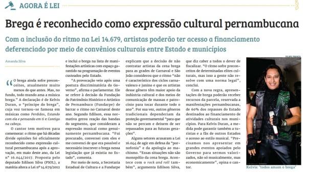 BREGA É EXPRESSÃO CULTURAL DE PERNAMBUCO